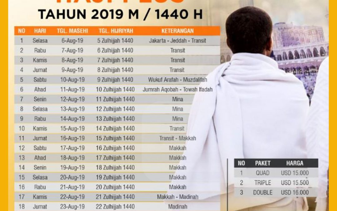 Jadwa Program Haji Plus 2019