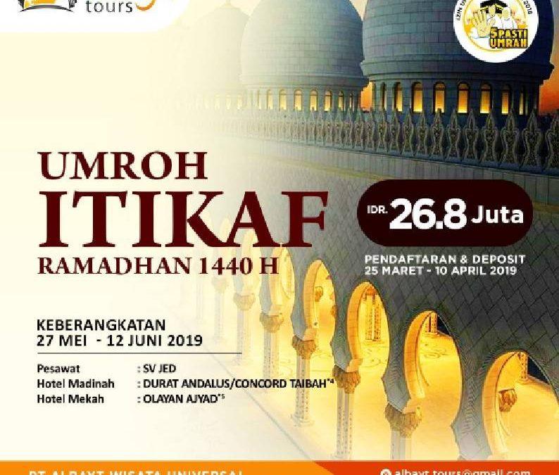 Umroh Itikaf Ramadhan 1440 H